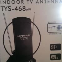 Antenna TV Indoor TOYOSAKI TYS-468AW + BOOSTER Sinyal Kuat & Jernih