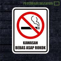 WSKPC025 Sticker Safety Sign Warning Sign Kawasan Bebas Asap Rokok