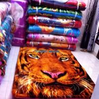 karpet busa murah tebal 6 cm bahan lembut sutra karakter Kepala Macan