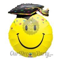 Balon Foil Smile Graduation Motif Bintang-bintang