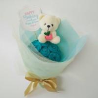 Buket Bunga Boneka Apple Teddy Bear Kado Anniversary Gift Ulang Tahun