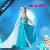 baju elsa frozen / kostum frozen ulang tahun anak import 331