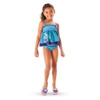 Disney Frozen Anna Elsa Girl Tankini Swimsuit.