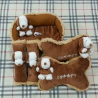 Bantak Mobil 3 in 1 Boneka SNOOPY Brown / Cokelat