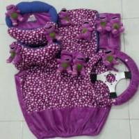Bantal Mobil 8 in 1 Boneka BARNEY with Love Dark Purple