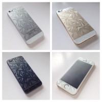 IPHONE 5 5S 3D DIAMOND SCREEN PROTECTOR ANTI GORES DOFF DEPAN BELAKANG
