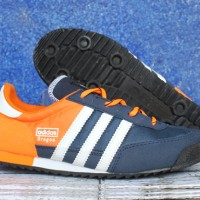 Jual Sepatu Casual Adidas Dragon Orange Dongker