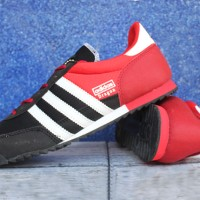 Jual Sepatu Casual Adidas Dragon Merah Hitam