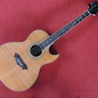 Gitar akustik elektrik Samick double run coklat