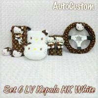 Bantal Mobil 6 in 1 LV Kepala Hello Kitty White
