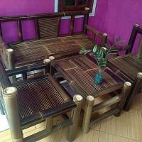 kursi bambu set standar