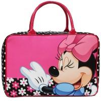 Travel Bag Karakter Mickey Mouse & Minnie Mouse Bahan Kanvas - Pink