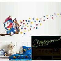 wall sticker 60x90 GLOW IN THE DARK-ABQ9623-DORAEMON GLOW