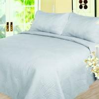 American Home Coverlet Motif Palem Warna Grey (selimut/bed cover)