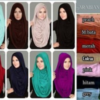 Model Baju Gamis Hijab Instant Arabian Hoodie (Versi Premium)