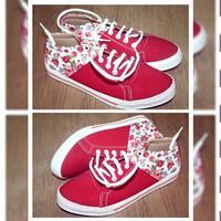 Sepatu Docmart Kets Flo Jeans Red