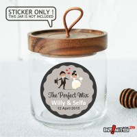 souvenir pernikahan label sticker wedding terima kasih bridal WEDPC011