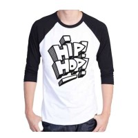 t shirt raglan pria/kaos raglan pria(hip hop)raglan 3/4