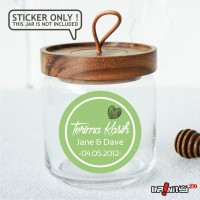 souvenir pernikahan label sticker wedding terima kasih bridal WEDPC029
