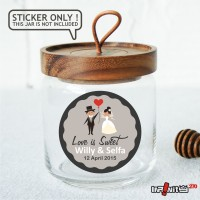 souvenir pernikahan label sticker wedding terima kasih bridal WEDPC015