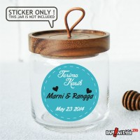 souvenir pernikahan label sticker wedding terima kasih bridal WEDPC047