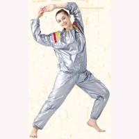 Baju Sauna Suit Slim Unisex Pria Wanita Silver Hitam Jaket Pelangsing
