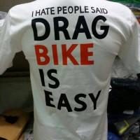 tshirt/t shirt/kaos distro drag bike (white)