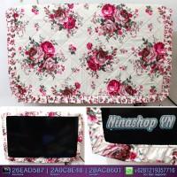 Jual sarung TV, Cover TV, bando TV, Tutup TV LED/LCD motif English Ros