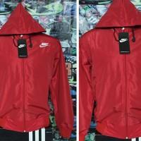 Jaket Nike Merah Parasut(hoodie,jaket parasut,jaket olahraga,sport)