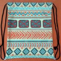 Tas Serut Backpack / Drawstring - Ransel Vintage Tribal 4