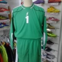 Stelan kostum kiper maestro baju celana keeper hijau lengan panjang