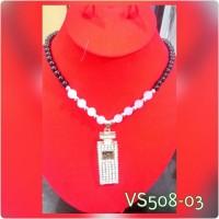 Kalung mutiara cantik bandul kucing merah / botol parfum murah