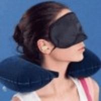Bantal Leher Angin udara set Travel pillow Inflatable