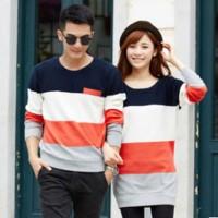 Baju Rajut Couple Korea Murah (SKY ORANGE) Grosir