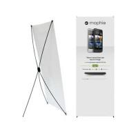 Kerangka Tiang X-Banner / Spanduk Standing bahan plastik Fiber