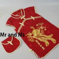 Baju Dress Bayi Anak Merah Cina Imlek 0, 1, 2, 3, 4, 5 Tahun