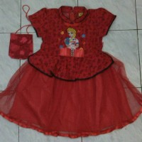 Dress Imlek / Cheongsam anak Elsa Frozen Sz.8