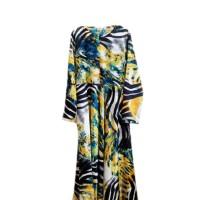 baju gamis motif bunga loreng