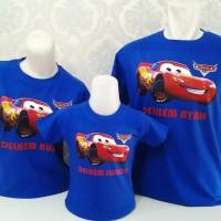 Kaos/Baju Couple Keluarga Ulang Tahun Ultah Anak Mc.Queen Car
