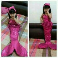 Costum Putri Duyung ( 4-6 th ), Baju Anak Cewek Setelan Dress
