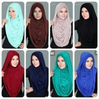 Kerudung bergo Jilbab instan Arabian Hoodie Premium Versi Jumbo