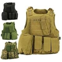 rompi / body vest banyak kantong army tni / rompi magazine