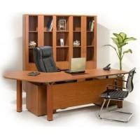 meja kantor direktur executive aditech termasuk laci & credenza murah