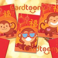 Amplop / Angpau / Angpao Imlek Mini Gambar Monyet Lucu (Glossy)