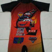 Baju renang anak diving car hitam SD
