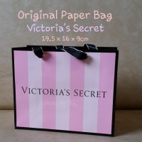 ORIGINAL Paper Bag Victoria's Secret ukuran kecil victoria lotion mist