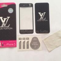 Garskin iPhone 5 & 5s screen guard skin protector anti gores LV