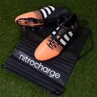 Sepatu Bola Adidas Nitrocharge 1.0 FG Original Hitam/Orange