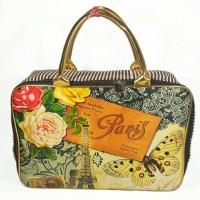 tas travel bag kanvas besar serbaguna buterfly in paris