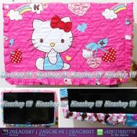 sarung TV, Cover TV, bando TV, Tutup TV LED/LCD motif Hello Kitty Kind